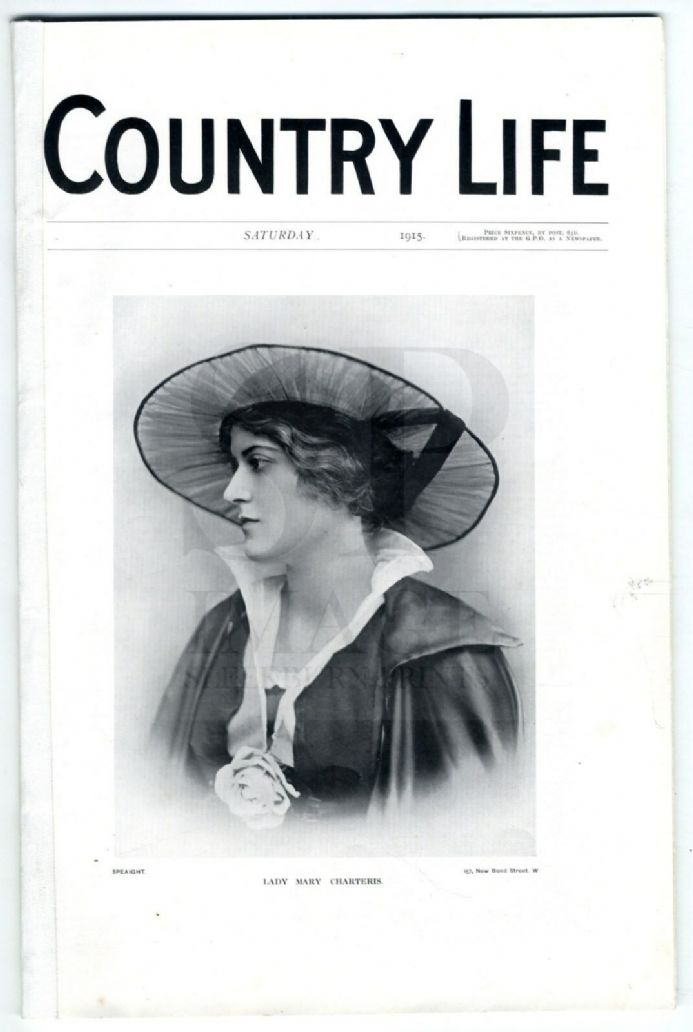 1915 COUNTRY LIFE Magazine MARY CHARTERIS Buckland MILL HILL BRANDSBY (9590)